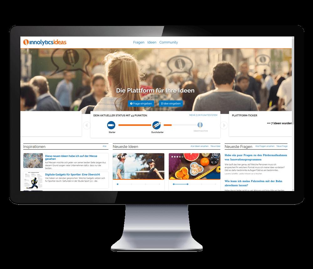 Ideenmanagement-Software Screen