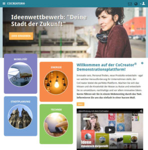 01-Open-Innovation-Software-CoCreator-Beispiel-Startseite