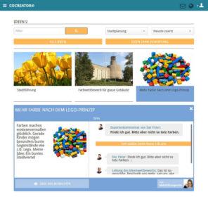 02-Open-Innovation-Software-CoCreator-Beispiel-Ideenübersicht-mit-Einzelidee
