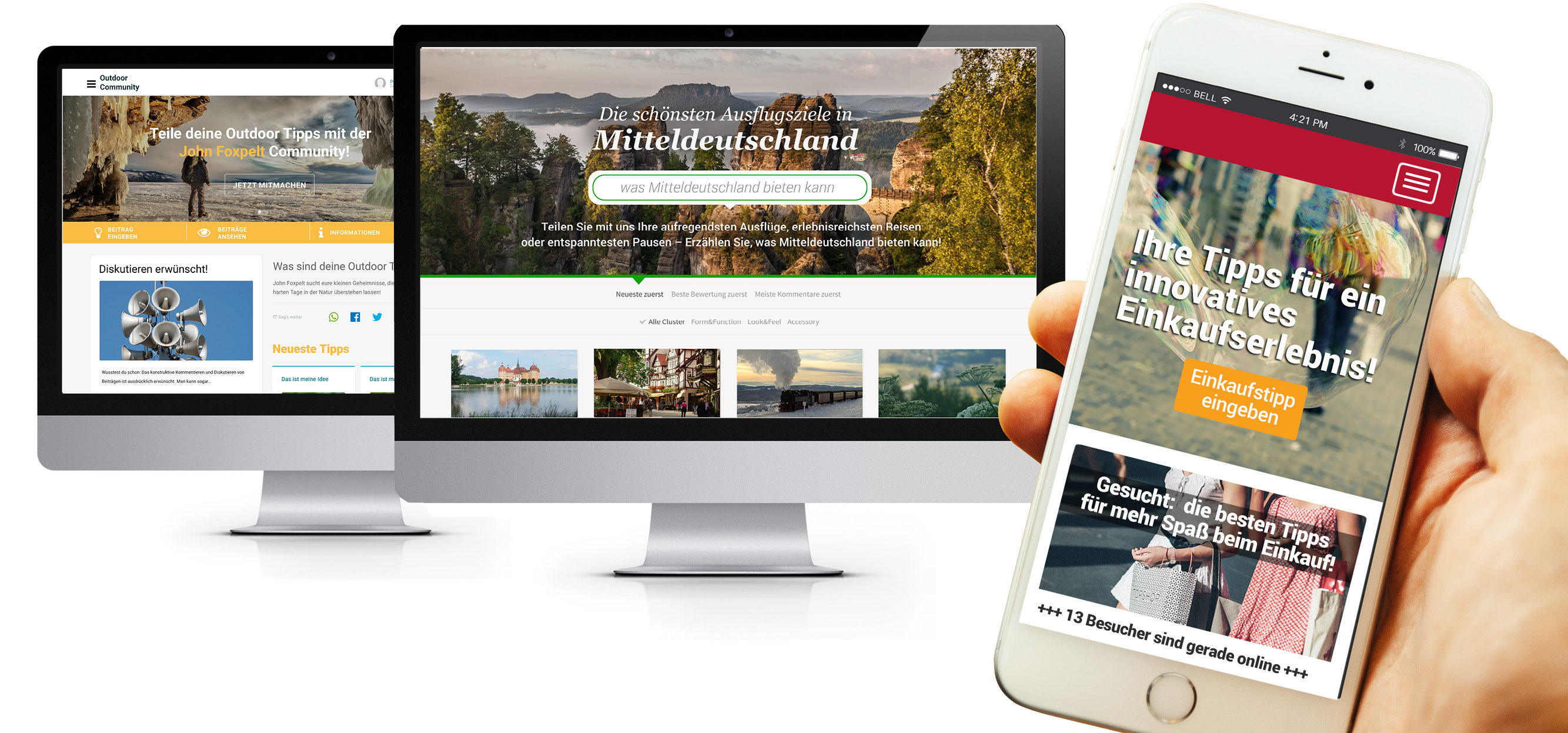 Kunden-Community Header