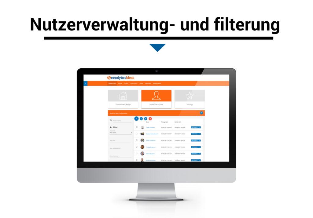 Marktforschung - Ideenmanagement-Software Nutzerverwaltung