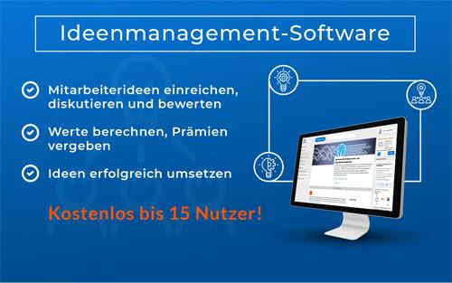 Die Abbildung zeigt die Innolytics Ideenmanagement-Software und stellt Funktionen vor.