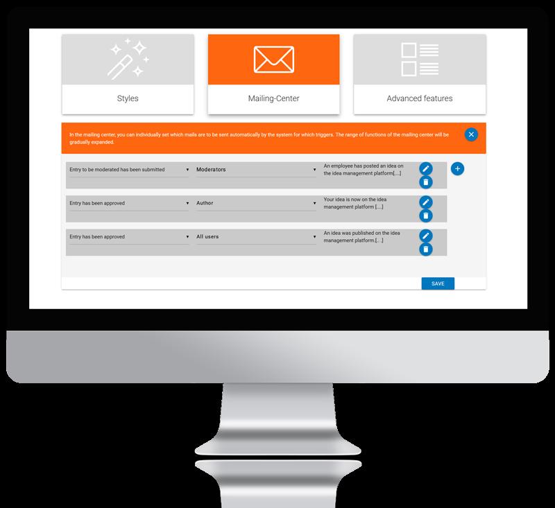idea management software mailing
