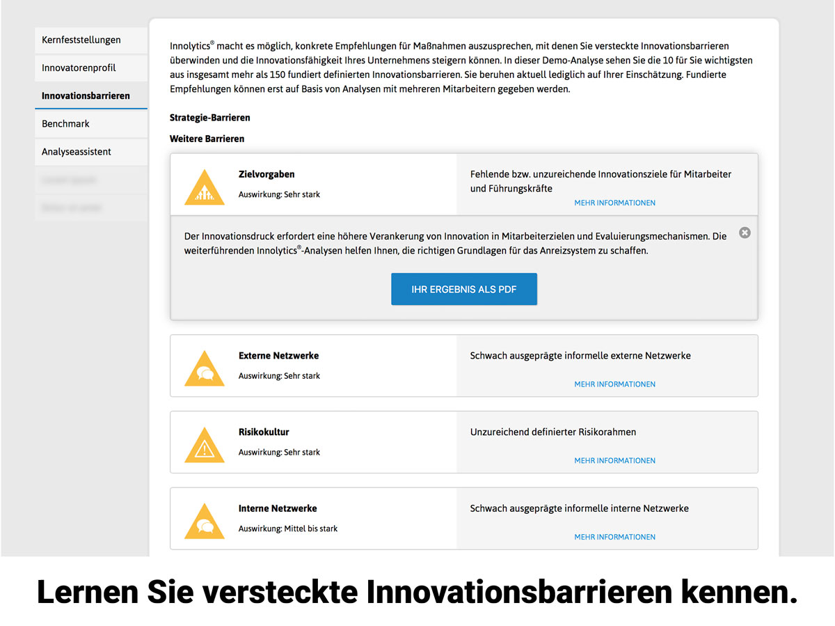 Innovationskultur Analyse Barriere
