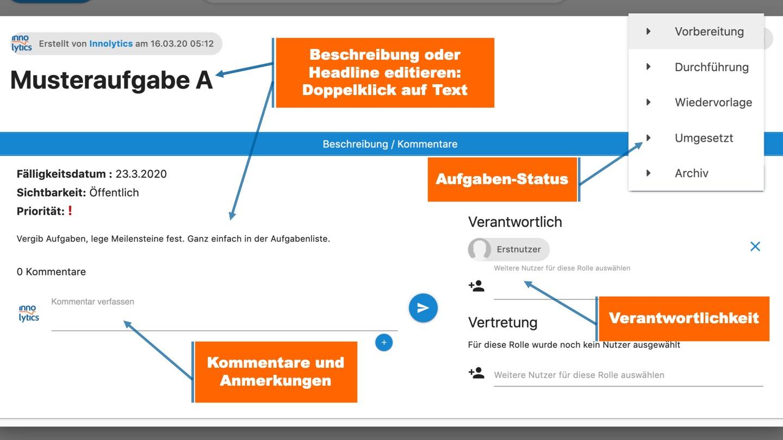 Collaboration Software Aufgabenerklärung