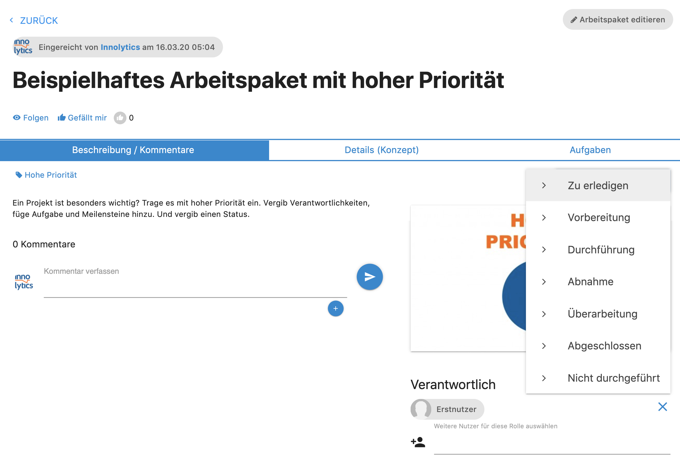 Collaboration Software - Arbeitspaket