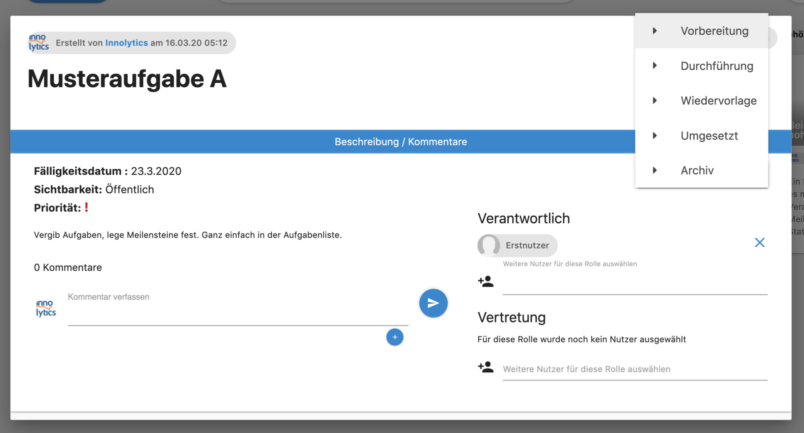 Collaboration Software - Aufgabe