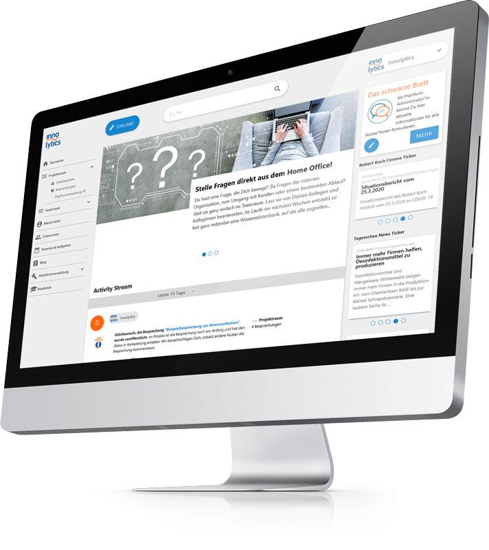 Das Bild zeigt einen Screenshot der Innolytics Workflow-Software