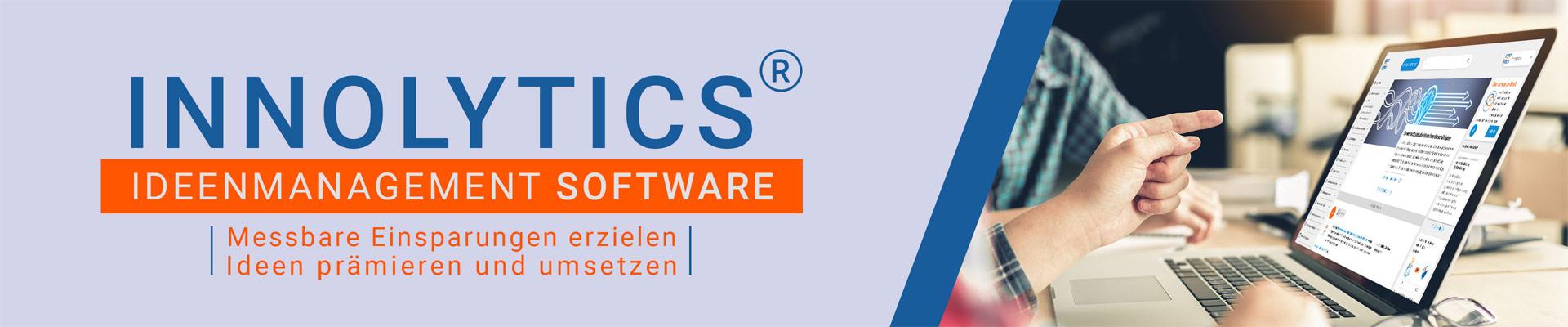 Das Bild zeigt die Ideenmanagement-Software der Innolytics GmbH